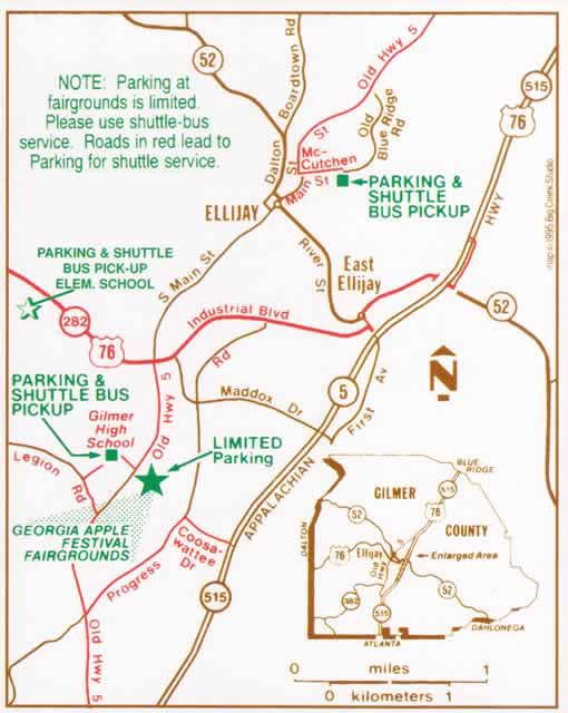 Dates And Directions Georgia Apple Festival Details - North ga map